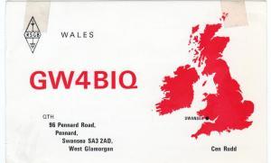 QSL, GW4BIQ, Swansea, Wales, 1977