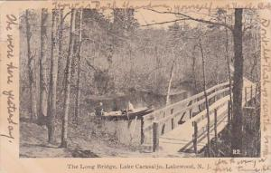 New Jersey Lakewood The Long Bridge Lake Carasaljo 1907
