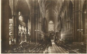 Postcard UK England Westminster, Middlesex the choir nave