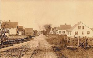 Holbrook Brookville MA Dirt street View RPPC Postcard