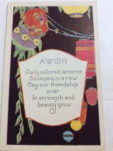 May our Friendship ever in strength and Beauty grow, Paper Lanterns ART DECO