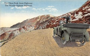 Pike's Peak Auto Highway Car Colorado 1910s postcard