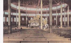New York Auriesville The Coliseum Interior Albertype