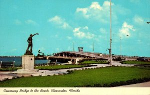 Florida Clearwater Sailors and Soldiers Monument At Entrance To Causeway Brid...