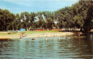 Spearfish South Dakota~Spearfish Valley Ranch Campground~Children Playing~1960s