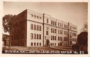 Cedar Rapids IA~Coe College~Science Hall Construction~Lumber~Students~c1915 RPPC