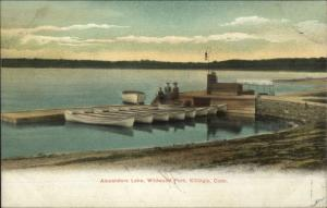 Killingly CT Boats at Alexanders Lake c1905 UDB Postcard