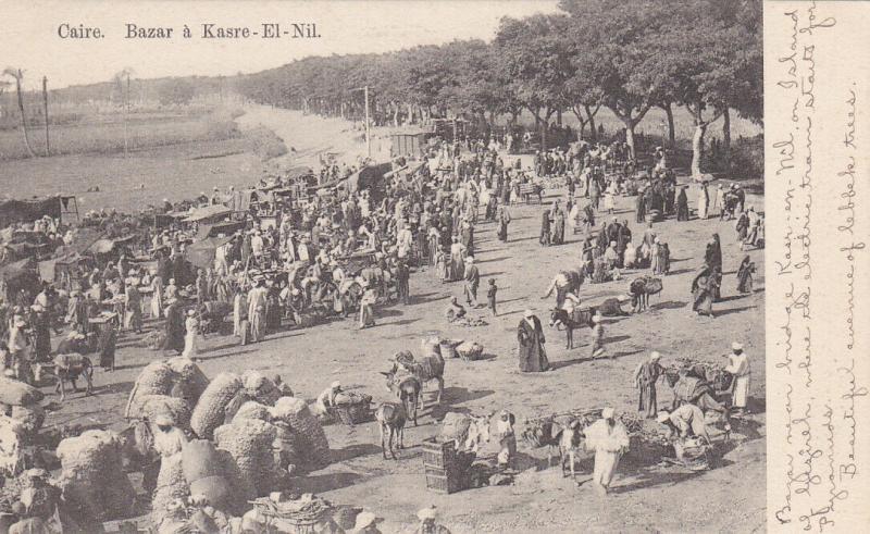 CAIRO , Egypt , 00-10s ; Bazar & Kasre-El-Nil
