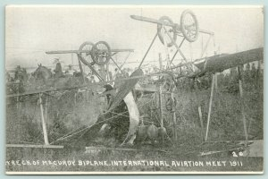 Baddeck NS Native Aviator McCurdy Wreck~1911 Chicago Int'l Aviation Meet~Biplane