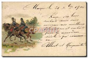 Postcard Old Insurance Company Riders Horses Army Switzerland Winterthur
