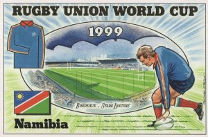 Namibia Team Rugby Union World Cup 1999 Postcard