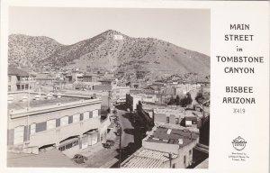 Arizona Bisbee Main Street In Tombstone Canyon Real Photo sk5171