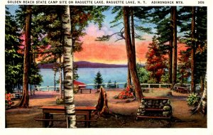 NY - Adirondacks, Raquette Lake, Golden Beach Camp Site