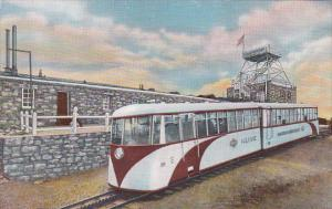 Streamline Cog Train at the Famous Old Summit House, Pikes Peak, Colorado, 19...