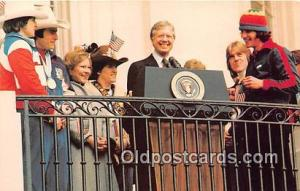 USA Olympic Hocky Team Postcard President Jimmy Carter