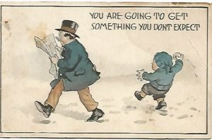 Vintage Postcard You are going to get something you don't expect Little boy
