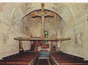 Interior View Of A Church, Jesus In A Cross, Alnö G:a Kyrka, Sweden, 1960-1970s