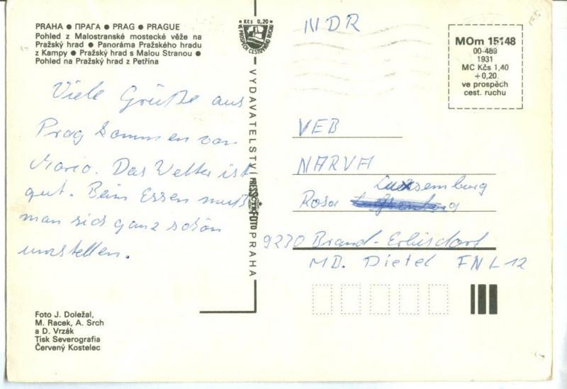 Czech Republic, Prazsky Hrad, Prague, Praha, used Postcard