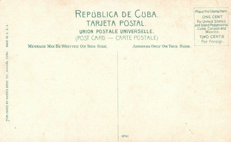 Vintage Postcard 1910's A Block House on the Grotcha Cuba Pub. Harris Brothers