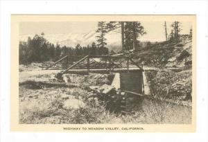 Highway Bridge, Meadow Valley, California, 1910-30s