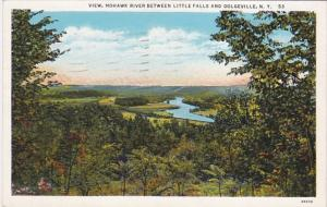 New York Mohawk River Between Little Fals and Dolgeville 1947 Curteich