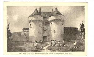 GUERANDE, La Porte Saint-Michel, avant sa resturation, vers 1840, Loire Atlan...