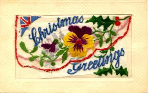 Embroidered Silk (with message pocket) - Christmas Greeting
