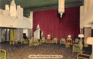 Memphis Tennessee lobby interior King Cotton Hotel antique pc Z17916