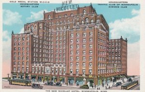 MINNEAPOLIS , Minnesota , 1910s ; Gold Medal Station W-C-C-O , Nicollet Hotel
