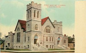 Wichita Kansas~First Baptist Church~1910 Postcard