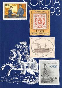 Nordia 1993 Finland Stamps man, horse, silhouette, drawing