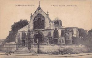 CHALONS-sur-MARNE, L'Eglise St. Jean(XIV Siecle) Marne, France, 00-10s