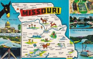 Map Of Missouri 1956