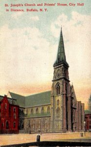 New York Buffalo St Joseph's Church and Priests' House