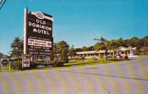 Virginia Roanoke Old Dominion Motel 1971