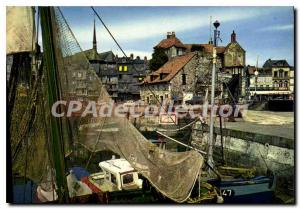 Modern Postcard Honfleur Lieutenancy And Boats Of Fishing