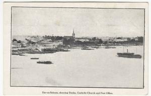 Tanzania; Dar Es Salaam, Showing Docks, Catholic Church & Post Office PPC Unused