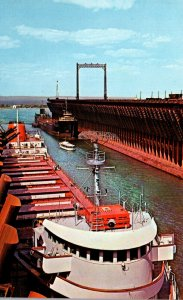Minnesota Duluth Great Lakes Freighter Loading Iron Ore