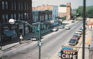 SHELBURNE, Ontario, Canada, 1950-60s; Main Street, Rexall Drug Store, Tasty C...