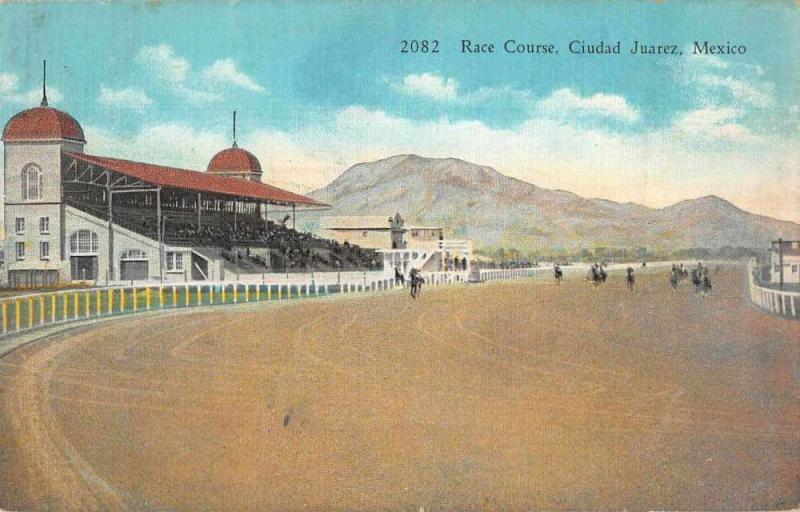 Ciudad Juarez Mexico Race Course Vintage Postcard JA4741573