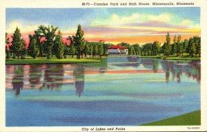 Minnesota Minneapolis Camden Park and Bath House Curteich