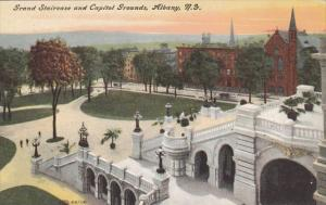 New York Albany Grand Staircase and Capitol Grounds