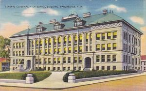 New Hampshire Manchester Central Classical High School Building 1939