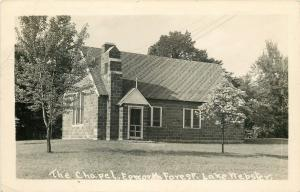 Lake Webster Indiana~Epworth Forest~Chapel~1949 Real Photo Postcard~RPPC