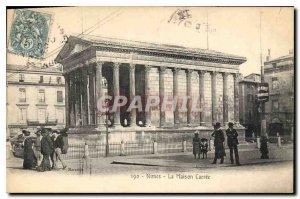 Postcard Old Nimes La Maison Carree
