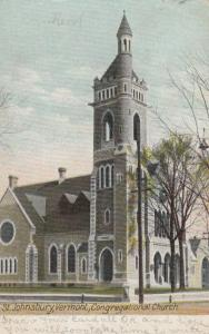 ST. JOHNSBURY, Vermont, PU-1908; Congregational Church