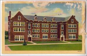 NY - Rochester. Nazareth College, Fisher Hall Dorm. (damaged card)