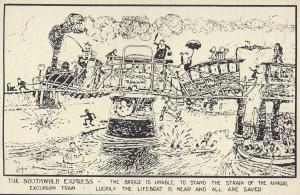 The Southwold Express Train Lifeboat Suffolk Old Poster Postcard