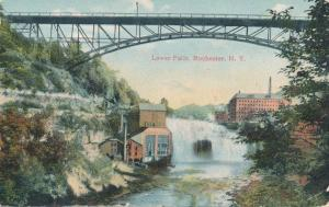 Lower Falls at Driving Park Avenue Bridge, Rochester, NY - DPO 1912 Barnard - DB