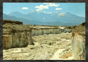p110 - PERU 1974 Arequipa Volcanic Stone Quarry & Mount Chachani. Sent to Canada